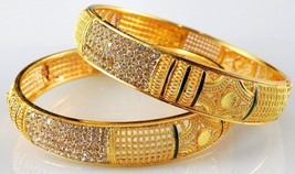 Indian Bollywood Gold Plated Stunning CZ Bridesmaid Fashion Bangles Bracelets - $13.25