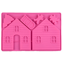 Christmas Gingerbread House Silicone Cake Mold Sugarcraft Pastry DIY Bak... - ₨551.92 INR