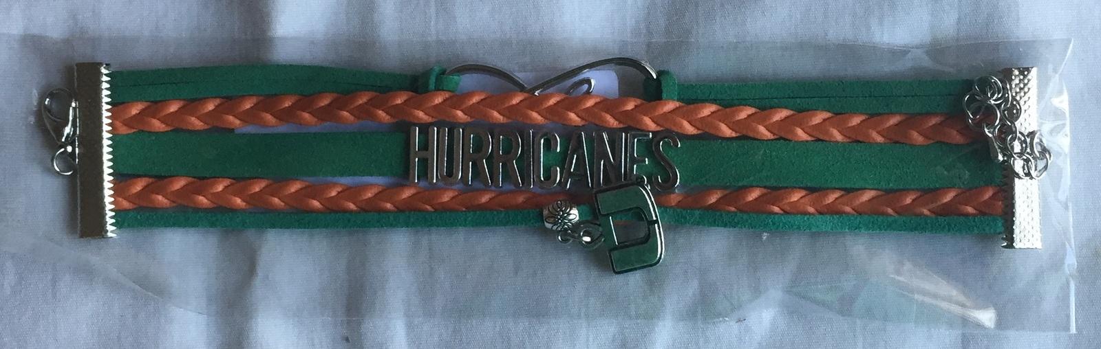 University of Miami Hurricanes Fan Shop Infinity Bracelet Jewelry