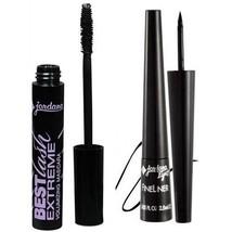 JORDANA Fine Liner Felt Tip Liquid Eyeliner Black and Best LASH EXTREME ... - $6.68