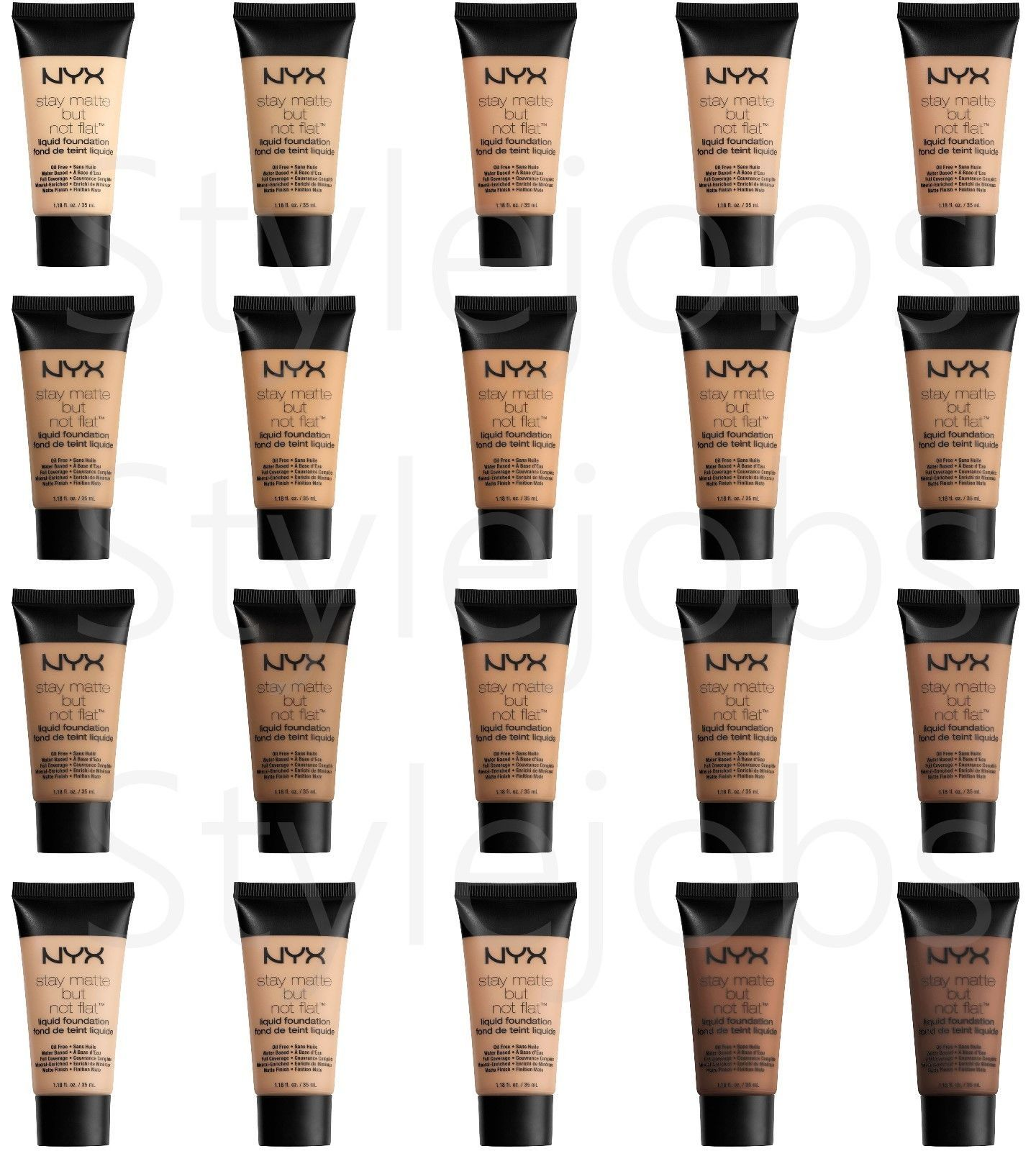 "Primary image for NYX Stay Matte But Not Flat Liquid Foundation SMF ""Pick Your 1 Color"""