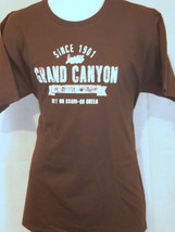 grand canyon railway brown L large T shirt - $19.79