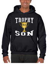 Men's Hoodie Trophy Son Cool Gift Love Graphic Top - $24.94+