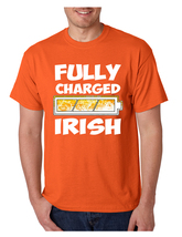 Men's T Shirt Fully Charged Irish St Patrick's Day Tee Shirt - $10.94+