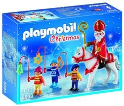 New! PLAYMOBIL 5593 Christmas Parade Set Ages 4-10 - $15.36