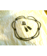 """16 1/2"""" Blue Goldstone Necklace and Earrings - $20.00"""
