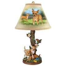 """*Linda Picken """"Charming Chihuahuas"""" Table Lamp* - $168.13"""