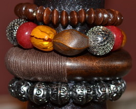 Bracelets for Women - Bangle Bracelets - 3 Beaded Stretch Bracelets - $8.99