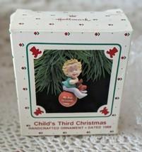 Hallmark Keepsake Child's Third Christmas Handcrafted Ornament 1988 - $9.69