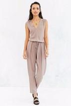 COPE Jumpsuit Beige Urban Outfitters T Bar drapey drawstring Jumper Sz-XS - $37.25
