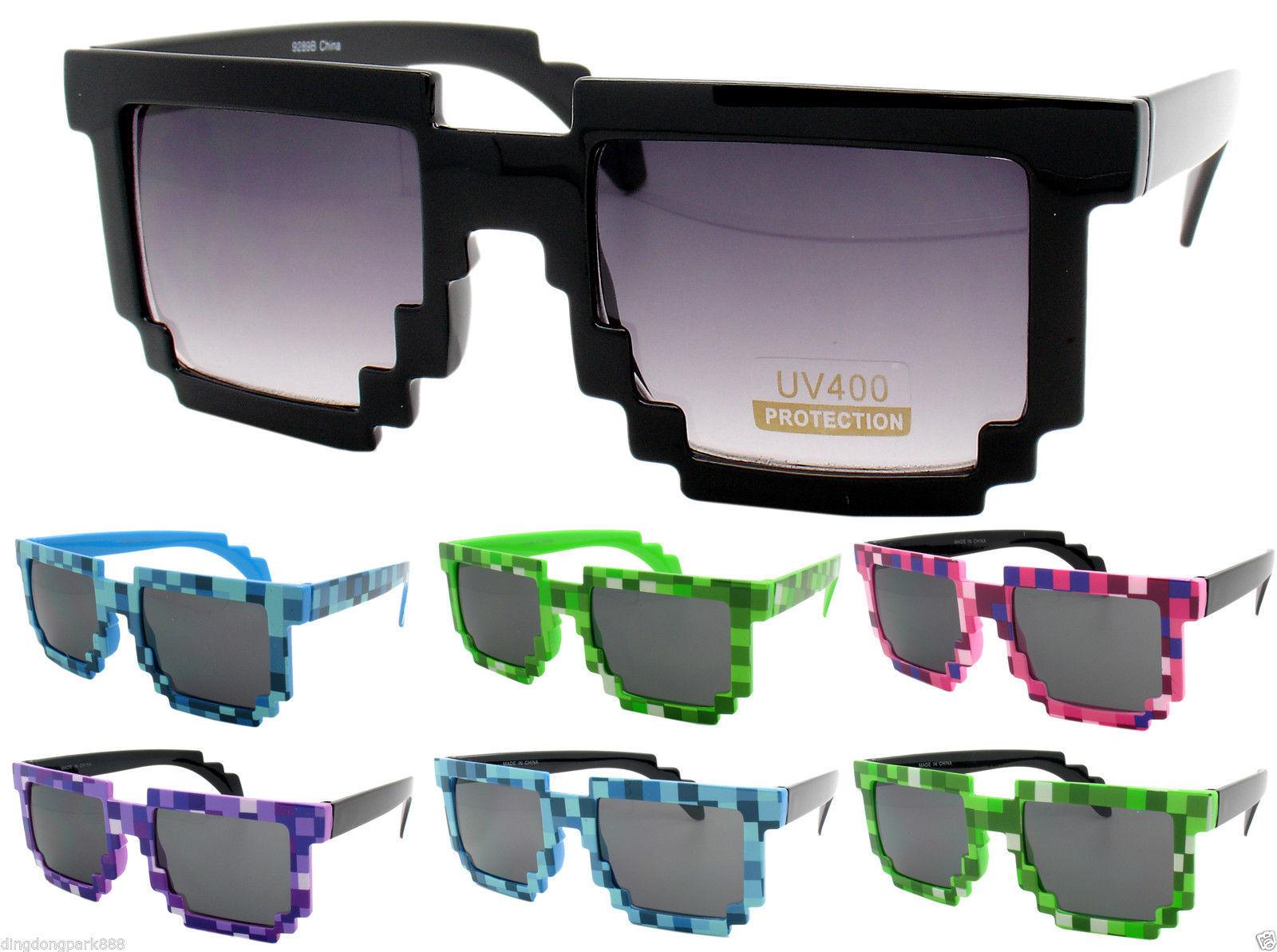 607ad9209dcf Black Pixel 8 Bit Retro Sunglasses Nerd Geek and 37 similar items. S l1600
