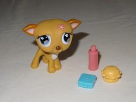 Littlest Pet Shop LPS #498 GREYHOUND Puppy Dog Flower Hamburger Cd Case ... - $8.99
