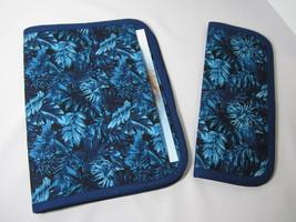 JW Portfolio Field Ministry Organizer & Tract Holder Set Blue Floral Print - $50.00