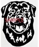 ROTTWEILER HEAD CROSS STITCH CHART - $10.00