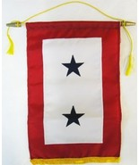 "Service Banner (Two Star) -  12"" x 18"" Nylon Banner - $37.14"
