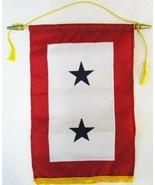 "Service Banner (Two Star) -  12"" x 18"" Nylon Banner - $37.14"