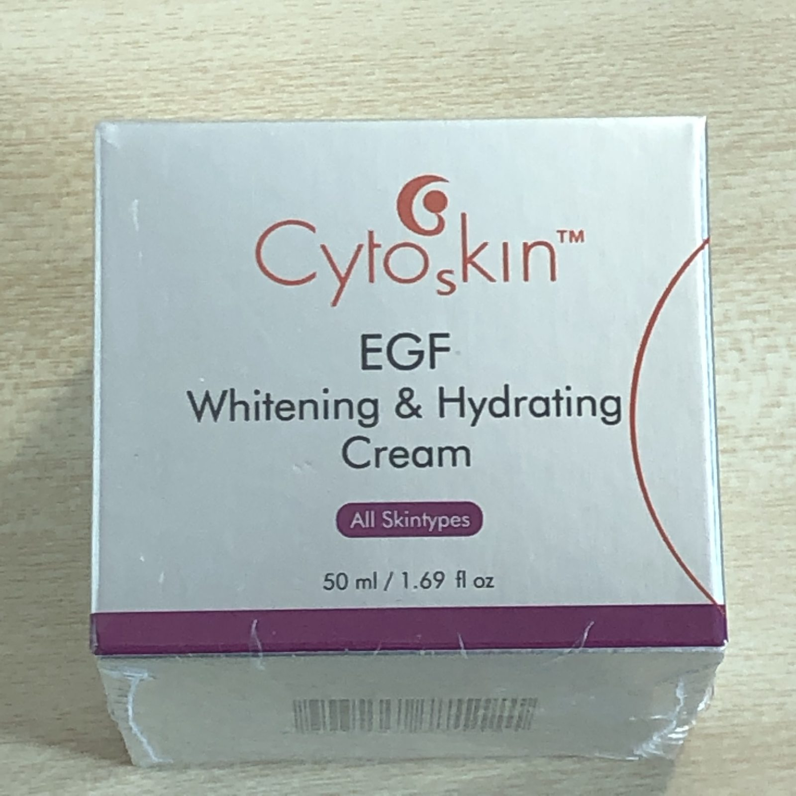 CytoSkin EGF Whitening & Hydrating Cream for Face, 50g + Free Sample