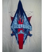 Peace Frogs Tee Shirt - White with Palm Tree Graphic  - Size Medium - $12.97