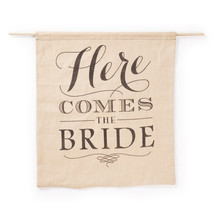 """Rustic Theme Wedding """"Here Comes the Bride"""" Burlap Sign Banner - $40.00"""