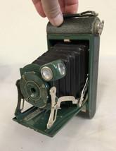 Vintage green No 1 Pocket Kodak junior folding camera Eastman Kodak Roch... - $79.48