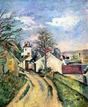100% Hand Painted Oil on Canvas - House of Dr. Gachet by Cezanne - 20x24 Inch - $226.71