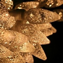 70 count C 6 LED Christmas Light String Warm White Color - $20.74