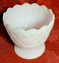 Vintage Honeycomb Milk Glass Compote Candy Dish EO Brody Co. Cleveland Ohio