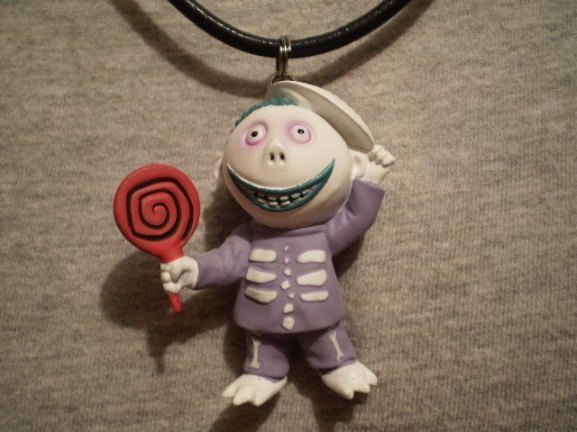 Cool Barrel Figure Nightmare Before Christmas Necklace