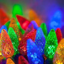 70 count C 6 LED Christmas Light String Multi Color - $20.74