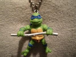 Teenage Mutant Ninja Turtles Leonardo Figure Necklace Cartoon Cool Charm Jewelry - $9.99