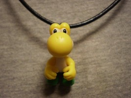 Super Mario Brothers Yellow Yoshi Figure Charm Necklace Collectible Jewelry - $9.99
