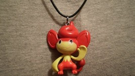 Pokemon Pansear Monkey Anime Charm Figure Cute Necklace - $8.81
