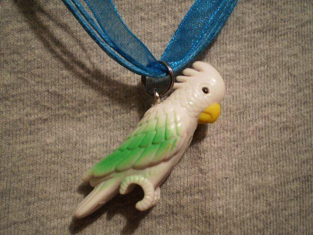 White Cockatoo Bird Cute Kawaii Cartoon Gift Necklace Figure Charm Jewelry - $7.83