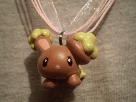 Pokemon Buneary Figure Anime Charm Novelty Necklace Cute Bunny Kawaii Jewelry - $7.83