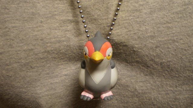Tranquill Pokemon Figure Charm Anime Necklace Collectible Novelty Cool Jewelry