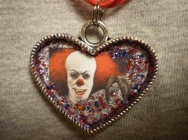 Clown Pennywise Heart Style Horror Necklace Stephen Kings It Novelty Jewelry - $14.69