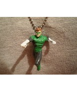 Super Hero Green Lantern Cool Figure Charm Necklace Collectible Jewelry - $7.83