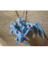 Blue Eyes Yugioh Dragon Figure Charm Necklace Anime Collectible Jewelry - $8.81