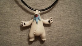 Pokemon Beartic Bear Anime Charm Figure Cute Necklace Toy Jewelry Collectible - $9.79