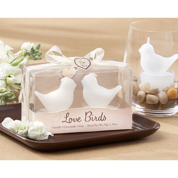 24 Love Birds Tea Light Candles Wedding Favors Bridal Shower Favors
