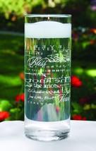 Wedding Words Glass Cylinder Candle Holder Wedding Accessories - $16.93