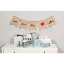 Burlap Banner The New Mr. & Mrs. Burlap Banner Wedding Ceremony Decorations - $23.76