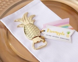 12 Gold Pineapple Bottle Openers Party Favors B... - $30.69