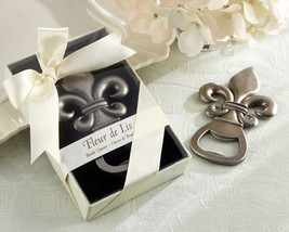 12 Fleur de Lis Pewter Finish Bottle Opener Wedding Favors Bridal Shower... - ₨2,438.06 INR