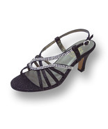 FLORAL Danielle Women Wide Width Swirly Rhinestone Strip Dressy Sandals - $53.95