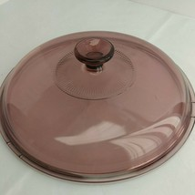"""Pyrex Vision Cook Ware 10 3/4"""" Cranberry Round Ribbed Replacement Lid (4D2) - $9.99"""
