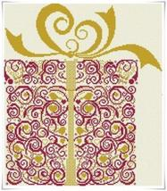 The Gift present cross stitch chart Alessandra Adelaide Needleworks - $16.75