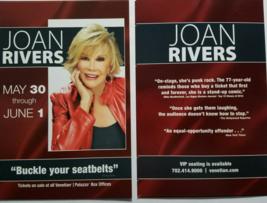 "JOAN RIVERS 5"" x 4"" Promo Card @ The Venetian Palazzo Hotel & Casino Las... - $3.95"