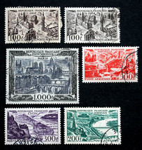 France Stamps Sc# C23 - C27 Used Complete Set 1949 - $29.99