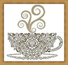 Coffee cross stitch chart Alessandra Adelaide Needleworks - $16.75
